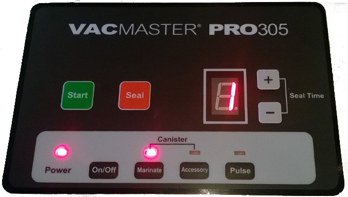 SmokingPit.com - VacMaster Pro 305 digital display