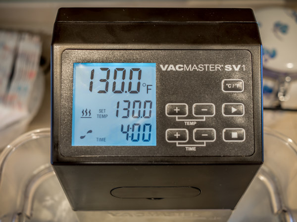 Vacmaster SV1 Sous Vide immersion circulator display