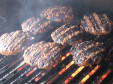 Smokingpit.com - Zesty Italian Onion Burgers, BBQ cooked over a real oak wood fire on the Scottsdale Santa Maria style grill.