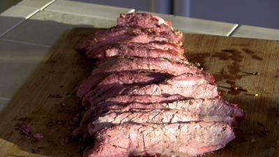 SmokingPit.com BBQ - Garlic & Rosemary Infused Tri-Tip Roast Beef  -  Beef recipes and how to videos on  slow cooking