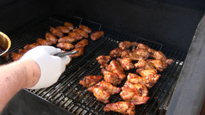 SmokingPit.com - Kentucky Bourbon Glazed Chicken Wings. Slow cooked on ...