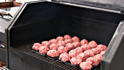 SmokingPit.com - Apple Wood Smoked Italian Meatballs in an authentic San Marzano Tomato Sauce. Smoked on a Yoder YS640. -  Meatballs on the Yoder YS640.